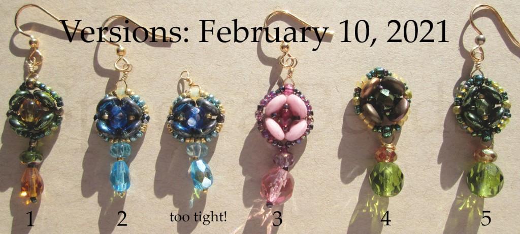 Updated trial versions of the Bee earrings